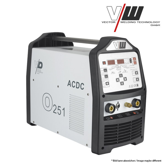 VECTOR Digital Welding machine AC/DC TIG O251 Plus Inverter ALU TIG CUT ARC MMA STICK Electrode