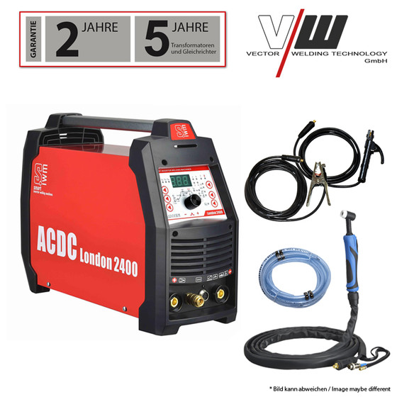 SWIM London 2400 Kombi Welder AC/DC WIG 200 Plus TIG ALU MMA E-Hand Inverter 4 in1